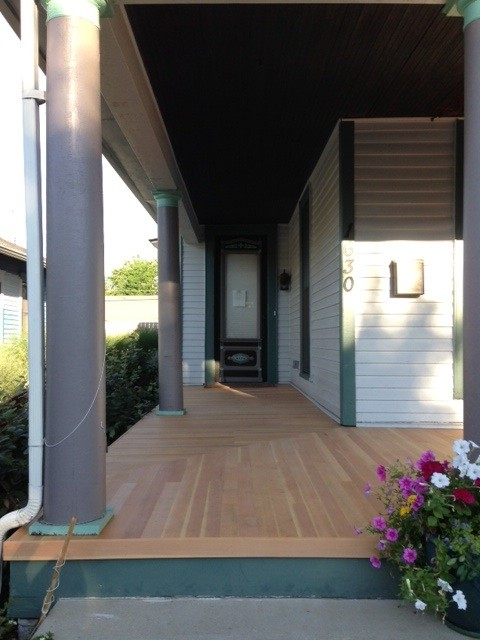 CVG Douglas Fir porch decking (clear finish)
